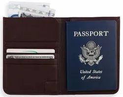 Brown Leather Passport Case