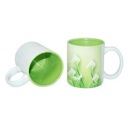11oz Two-Tone Color Mug-Light Green