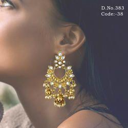 Traditional Kundan Jhumka Earring