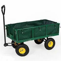 Heavy Duty Wheel Barrow on Heavy Cart Wheels with Bearings.