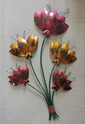 Hand Painted Flower Wall Decor