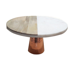KW-553 Marble with Wood Cake Stand