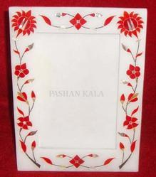 Marble Inlaid Picture Frame