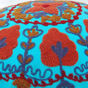 Sky Blue Embroidered Cushion