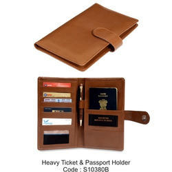 Brown Heavy Ticket Passport Holder