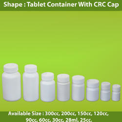 Tablet Container With CRC Cap