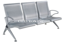 Silver Steel Waiting Chairs Wc - 454