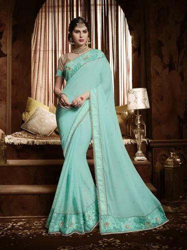 Heavy Wedding Wear Collection - Gold Heavy Wedding Wear Saree ...