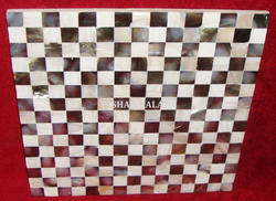 White and Grey Mother of Pearl Tiles