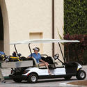 Red Golf Car 2 Plus 2 Seater