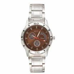 Vespl Chronograph Pattern Analogue Brown- Dial Men' Watch