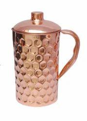 Pure Copper Dimond Design Jug