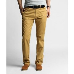Cotton Plain Mens Chino Trousers