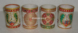 Marble Gold Painting Planter