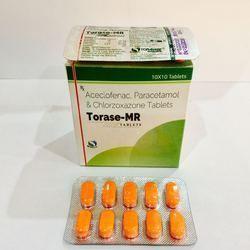 Aceclofenac 100 mg   Paracetamol 325mg   Chlorzoxazone 250m