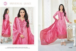 Pink Essenza Salwar Suit Fabric