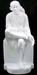 White Marble Sai Baba God Statue