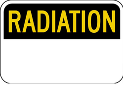OSHA-8 Radiation Sign