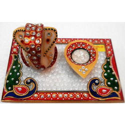 Marble Chowki with Ganesh