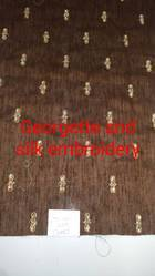 Georgette And Silk Embroidery Fabrics