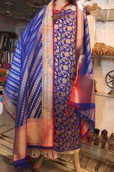 Banarasi Flower Designer Silk Suit