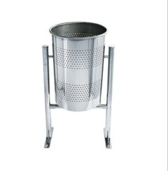 Pole Mounted SS Dustbin