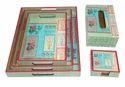 Printed Wooden Tray Sets
