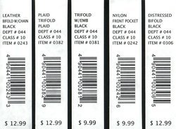 Barcode Labels for Garments