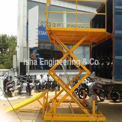 Two Wheeler Unloading Scissor  Lift
