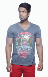 Men Fashion V-neck T Shirt