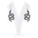Pave Diamond Snake Earrings