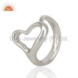 Heart Design 925 Silver Girls Engagement Rings Jewelry