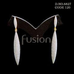 American Diamond Long Earrings