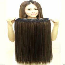 Golden Black Mix Highlighter Straight Hair Extension
