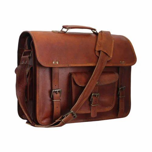 Leather Messenger Shoulder Laptop Bag