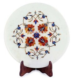 Inlay Marble Beautiful Plate