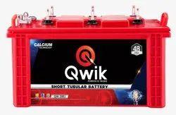 QWIK Short Tubular Battery QP1250-100AH for Inverter, Warranty: 60 Months