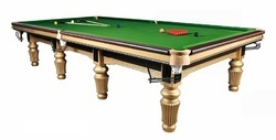 Snooker Table In Gold Polish