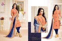 Collar Neck 3/4 Sleeve Padmini Salwar Suit