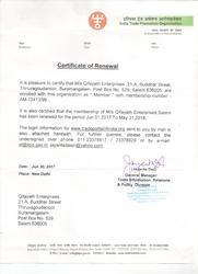 Associate Membership Certificate