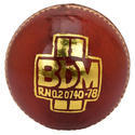 BDM Super Test Red Cricket Leather Ball