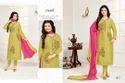 Full Sleeve Green Moof Salwar Suit Fabric