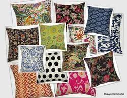 Cotton Kantha Printed Cushion Cover