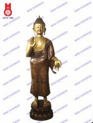 Buddha Standing Blessing Hand Statue