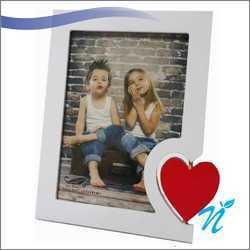 Wooden Photo Frame with Heart