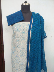 Embroidery Work Chanderi Suits