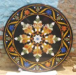 Round Stone Mosaic Inlay Table Top
