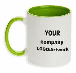 Light Green Handle Promotional Mug