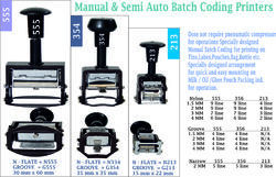 Manual Batch Coding Stamping Machine