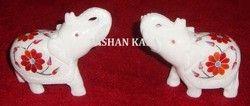 Marble Inlay Elephants